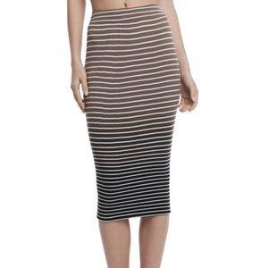 BNWT ATM stripe ombré knit skirt